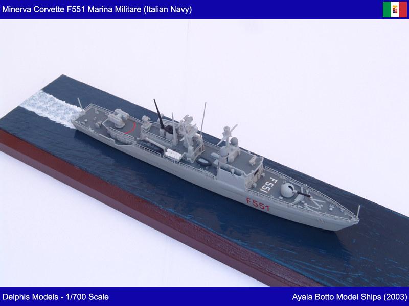 Corvette Minerva F551 Marina Militare - Delphis Models 1/700 21577438708_c533f316d8_c