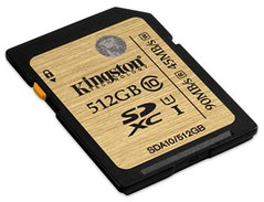 Kingston Class 10 UHS-I Card 512GB