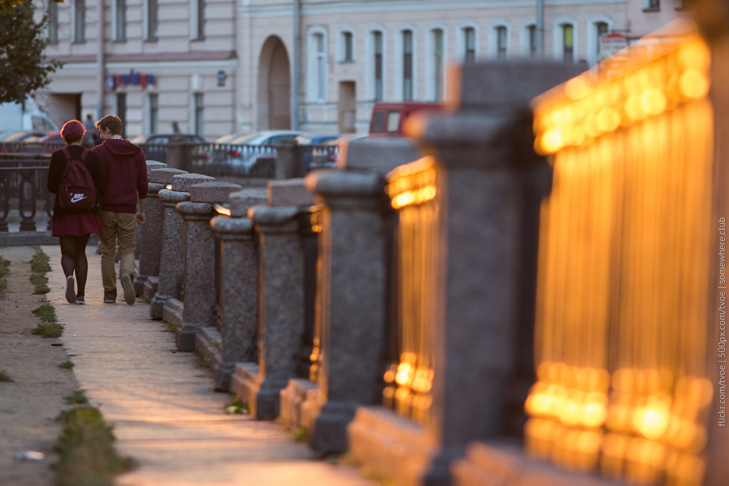 Закат и пара на канале Грибоедова