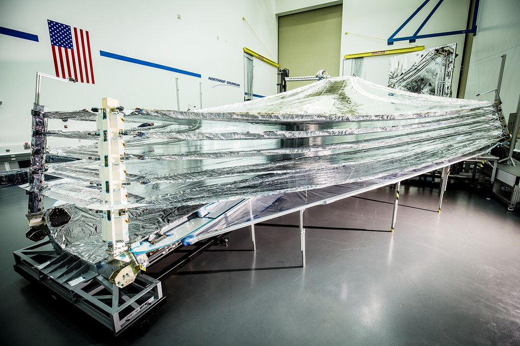 James Webb Space Telescope's flight sunshield