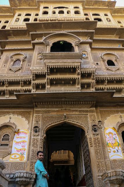 Exterior of Nathmal Ki haveli, Jaisalmer, India ジャイサルメール、ナトマル・キ・ハヴェリ外観