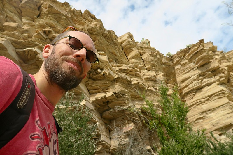 Selfie with cool rocks