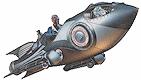 Vintage spaceship
