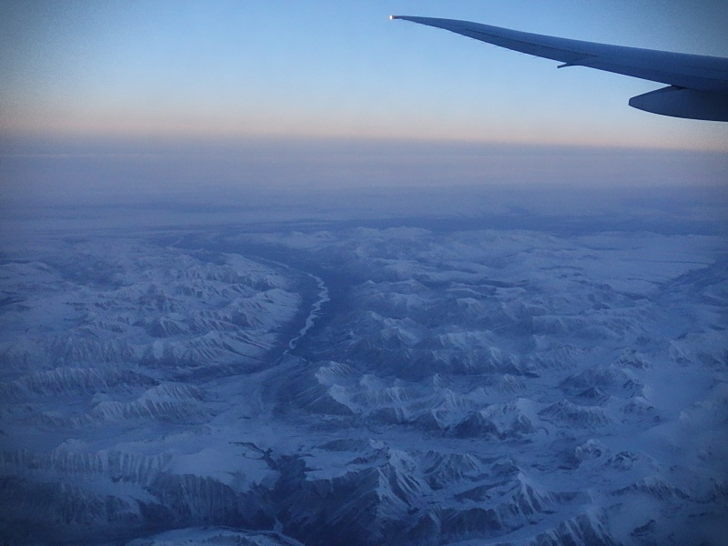 Arctic view from the plane
