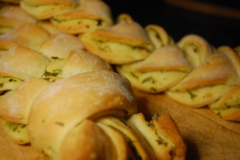 Garlic and herb plait