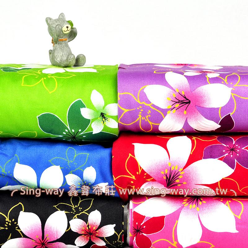 油桐花 客家花布 台灣花布 精梳棉床品床單布料 節慶佈置 紅包袋 CA540045