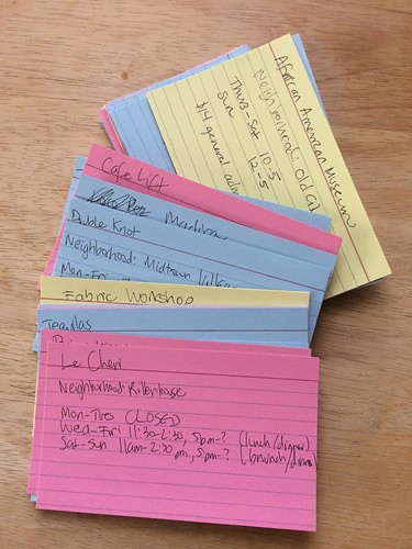 Staycation index cards