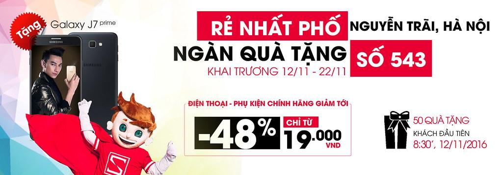 Khai trương CellphoneS 543 Nguyễn Trãi, Hà Nội