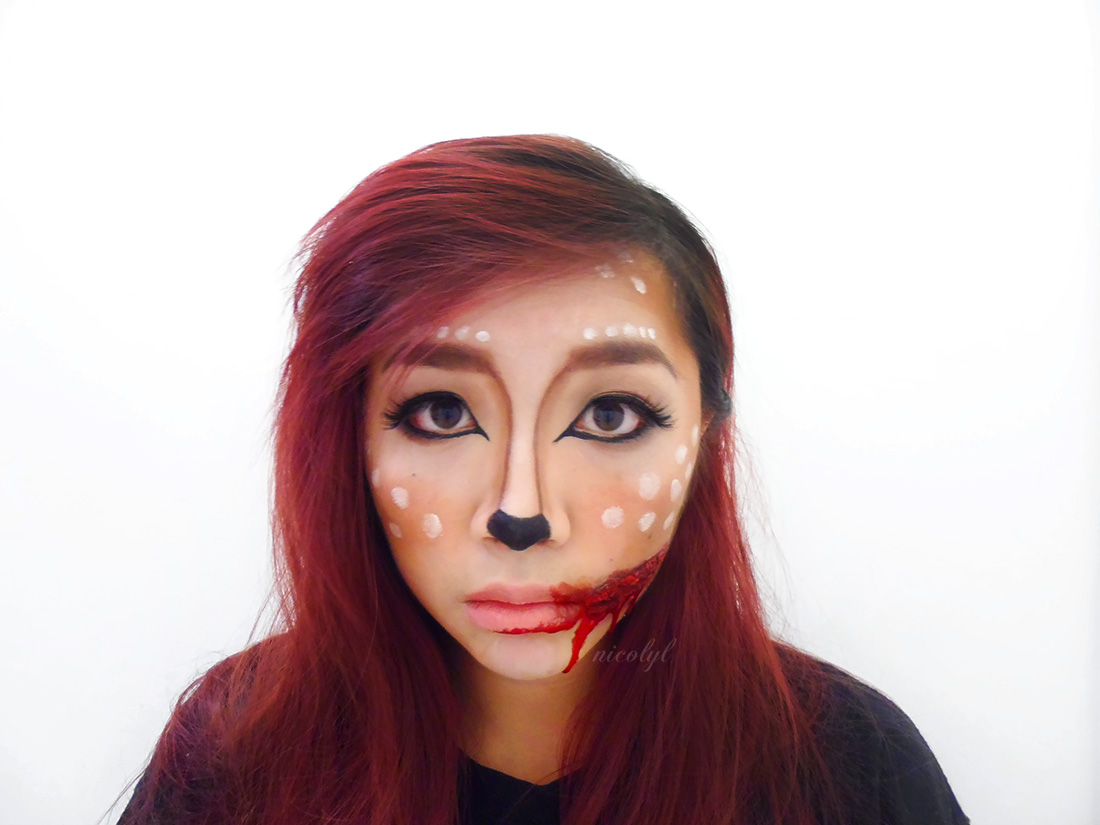 bambi cut halloween makeup