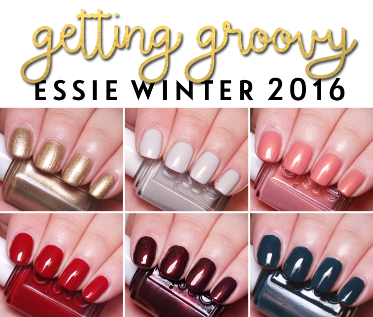 essie winter 2016 getting groovy collection swatches