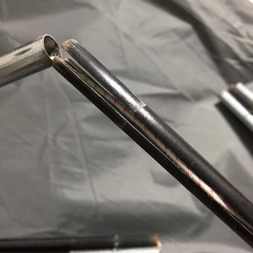 RIDER'S COMFORTABLE TARPのサイドポール補修