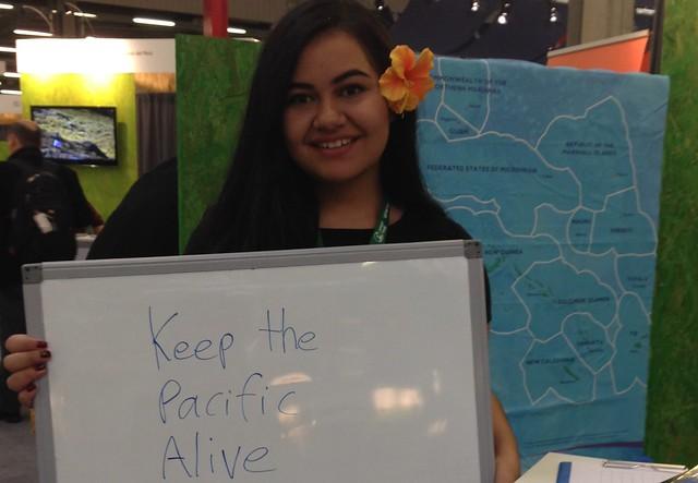 太平洋島國選出的COP青年大使。攝影:吳郁娟。