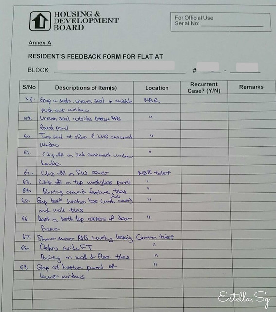 defect checklist template - hdb bto singapore defects checking blog review by