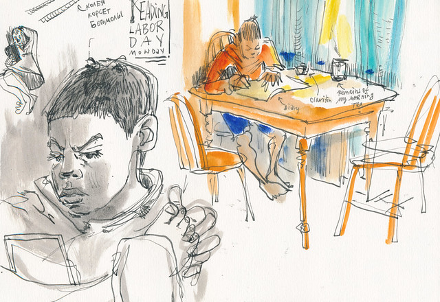 Sketchbook #100: Homework and Reading