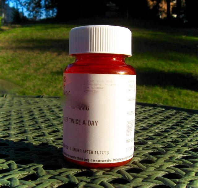 A prescription bottle