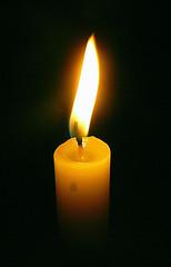 fiamma di una candela