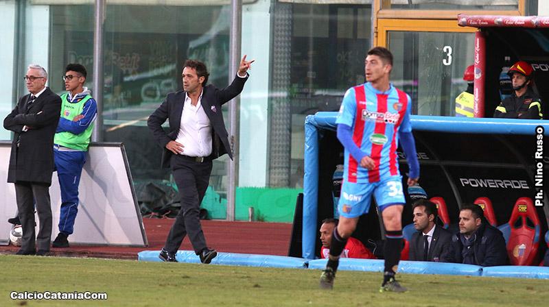 Il tecnico del Catania Pino Rigoli