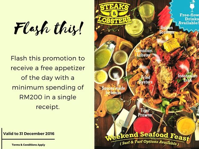 Steaks & Lobsters Blogger Promotion Banner