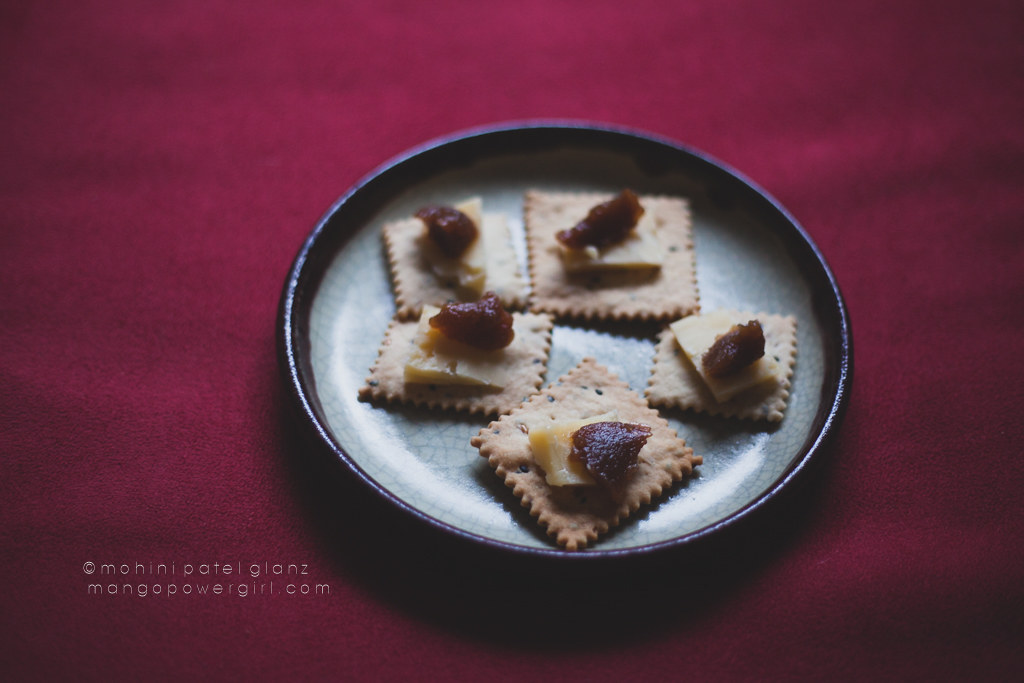 Homemade Seed Crackers with Cheese & Homemade Apple Butter