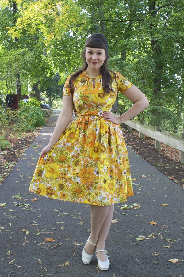 vintage fall dress