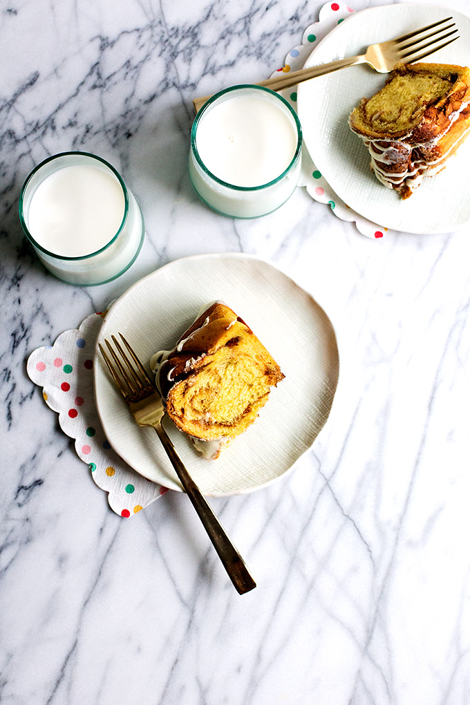 Braided Cinnamon Swirl and White Chocolate Pumpkin Bread by @cindyr
