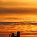 Zonsondergang met een schoorsteen / Sunset with a chimney