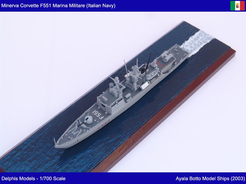 Corvette Minerva F551 Marina Militare - Delphis Models 1/700 21774712721_5d08a08903_c