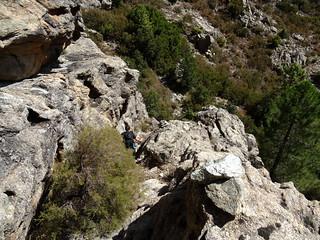 Le couloir de la face SE du Kyrie Eleison à la descente