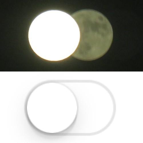 お月様とオンオフスイッチ