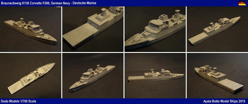Corvette FGS Braunschweig F260 Classe K130 Dodo Models 1/700 23223076150_31129c5d6a_c