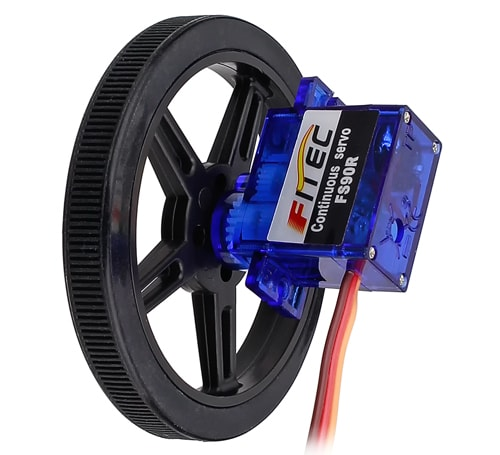 Wheel on FS90R Servo