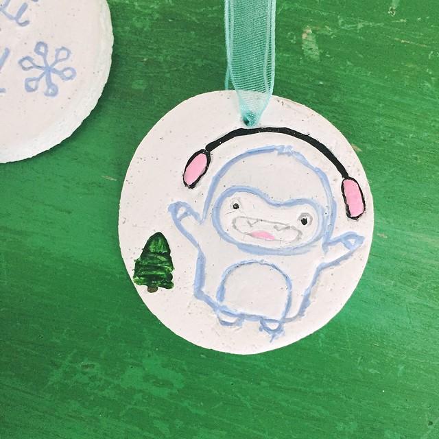 Yeti Christmas Ornaments