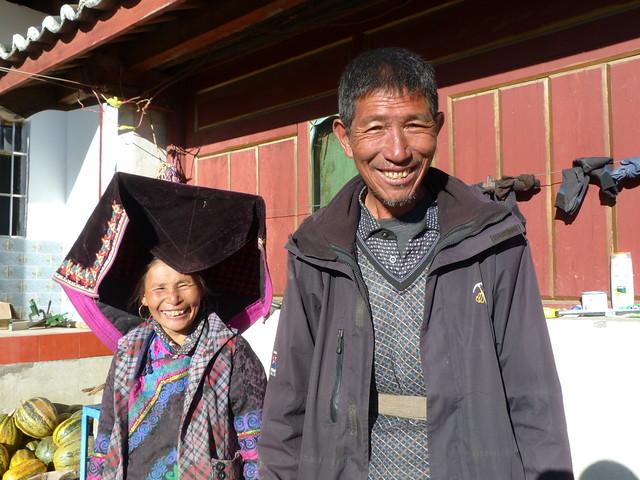 Matrimonio de la etnia yi negra en una aldea de Yunnan (China)
