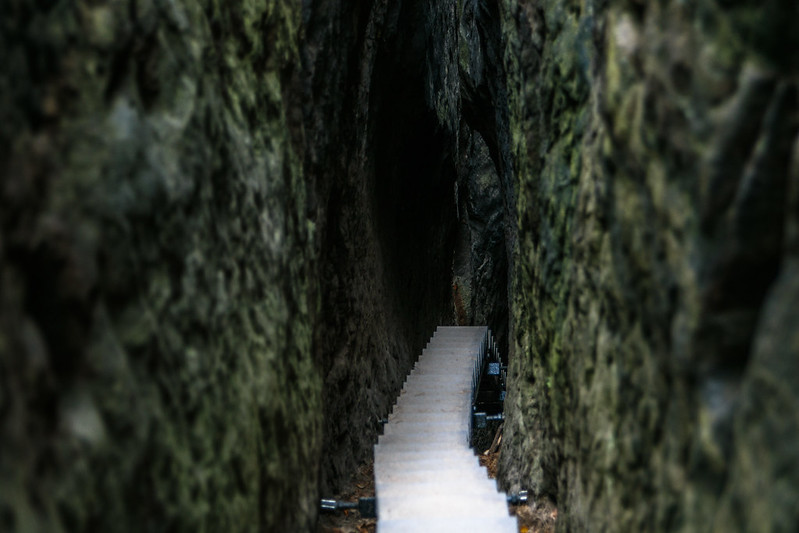 stairs inside a giant rock