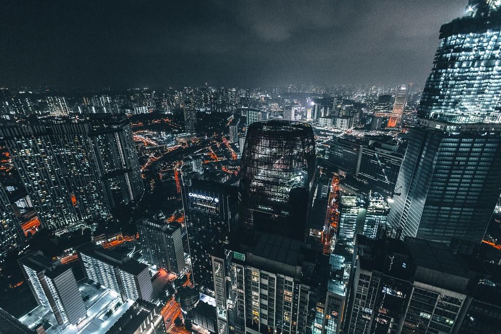 Imagen gratis de Singapur de noche - Imágenes gratis