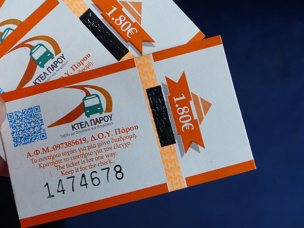 tickets de bus à paros