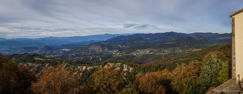 Vista norte desde el santuario de Bellmunt