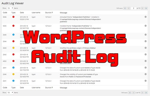 WP Security Audit Log - A Complete Audit Log Plugin For WordPress