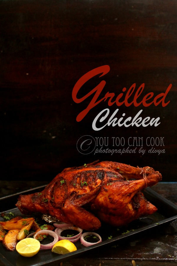 whole roasted  grilled chicken using oven