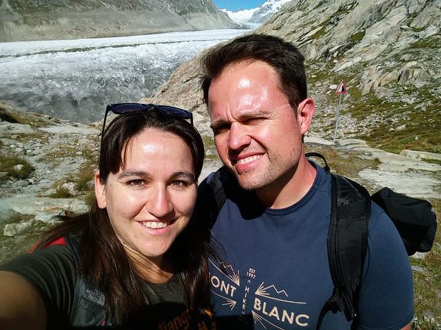 Una maravilla de la naturaleza, y detrás el Matterhorn ;-)