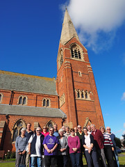 Photo OMD-M1_20151008_PA080022 of 'Cumbrian Codgers' group photo outside St James, Barrow-in-Furness