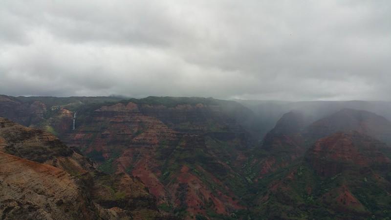 Waimea canyon waterfall