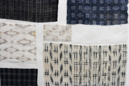 Japanese ikat weaving samples