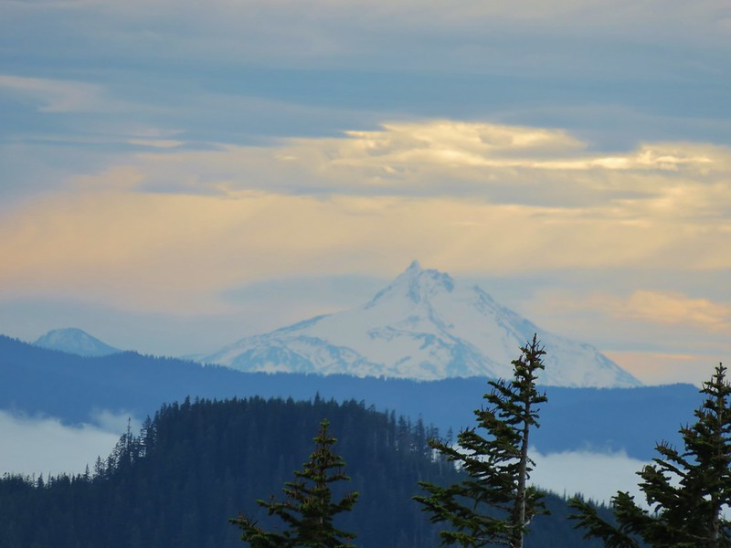 Olallie Butte and Mt. Jefferson from Green Point Mountain