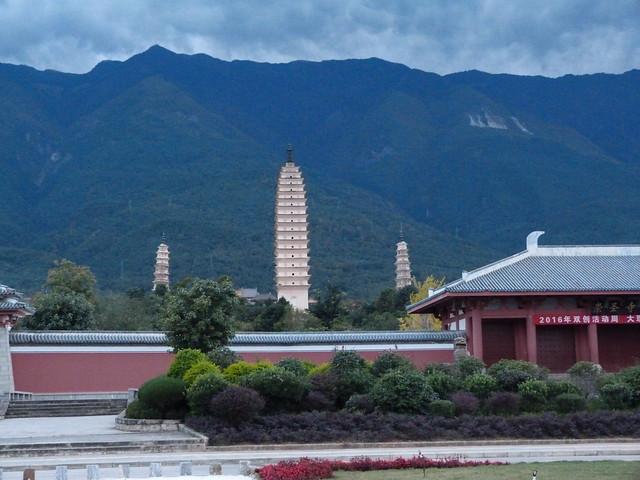 Las tres pagodas de Dali (Yunnan, China)