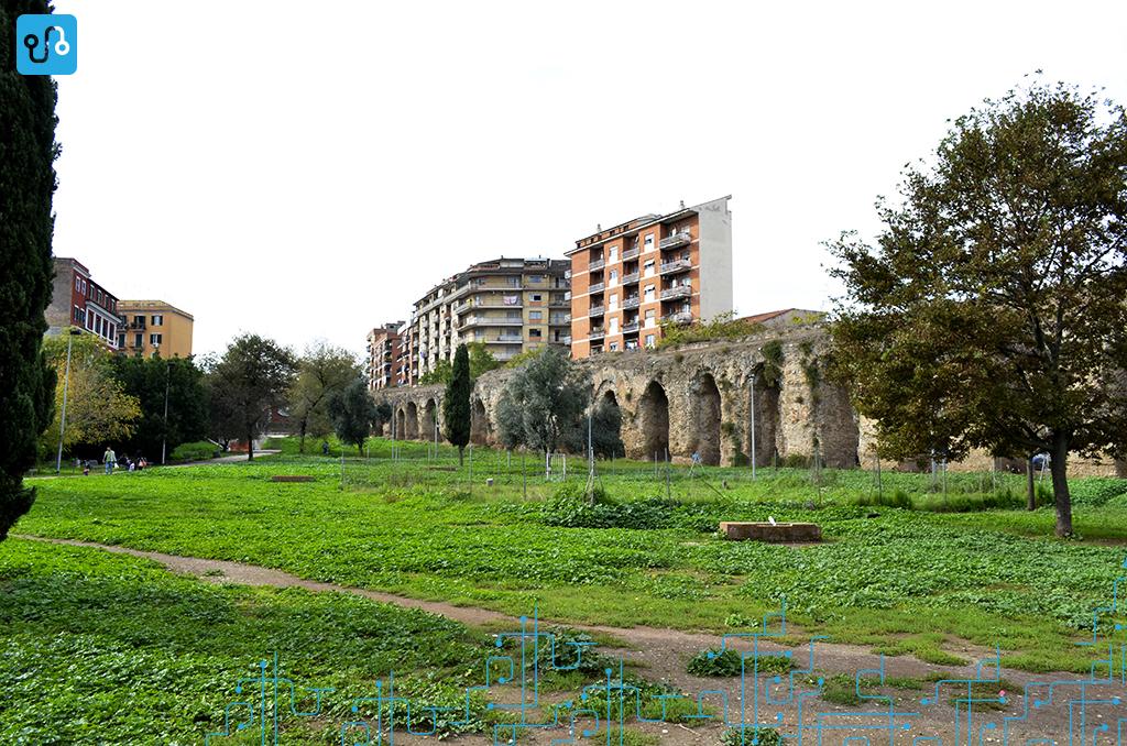 Território de estudo de uma das disciplinas. Parco Giordano Sangalli