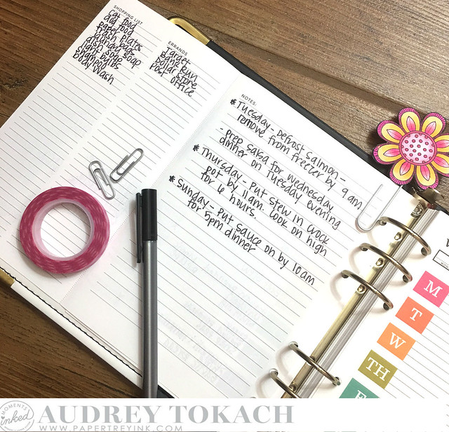 PTI Moments Inked Meal Planner