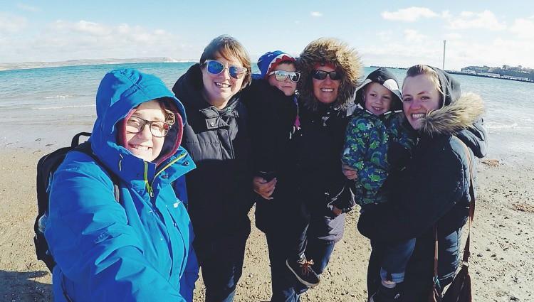chilly beach trip