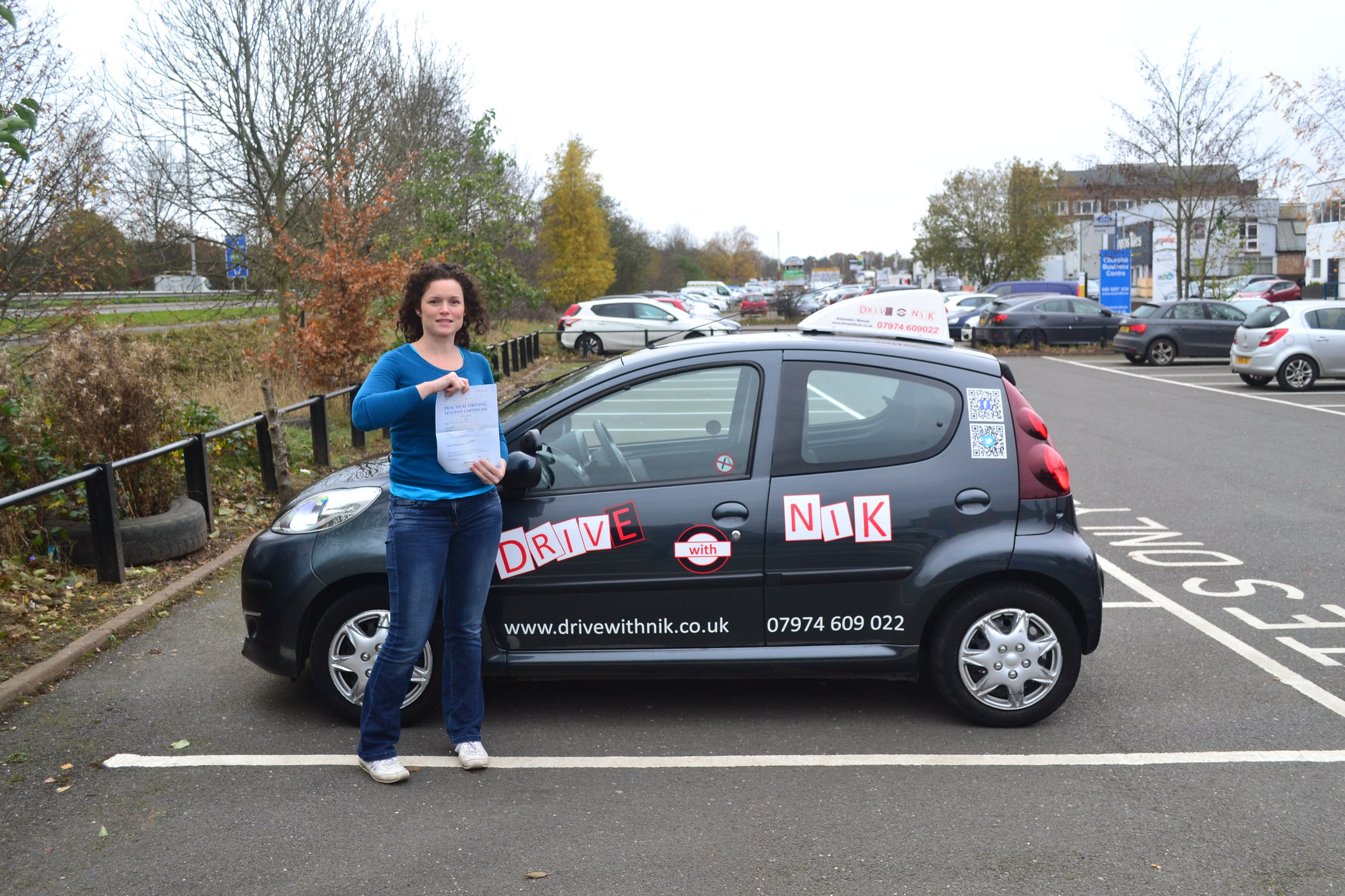 Manual driving lessons Woodside Park Lucie passed her practical driving test first time with Drive with Nik