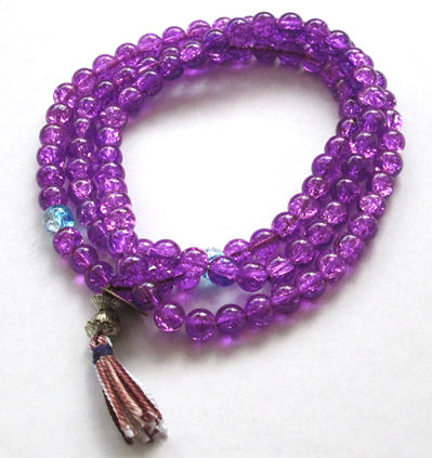 Japa Mala Púrpura Cristal
